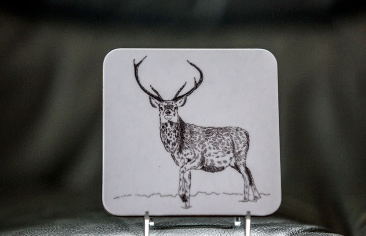 Red Stag Coasters set of 4