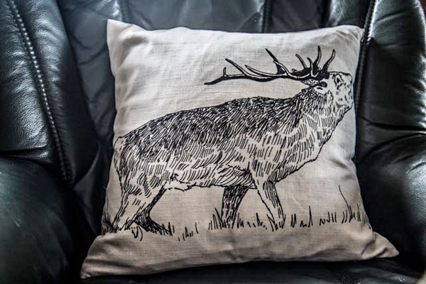 Red Stag Cushion Cover